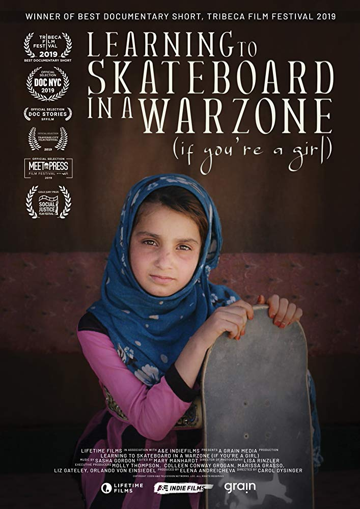 Learning to skateboard in a warzone (if youre a girl) poster
