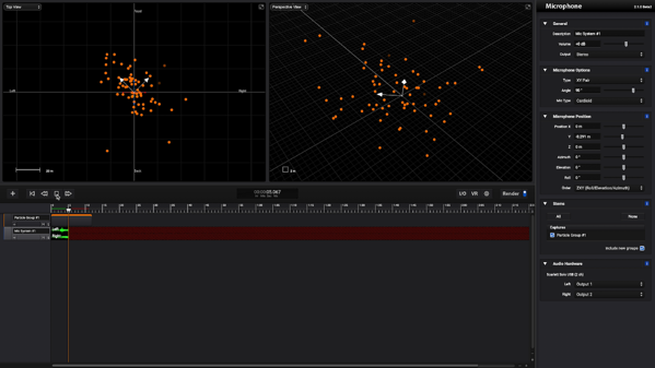 Sound Particles Real Time Render